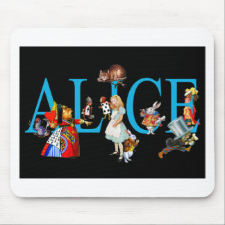 ALICE AND FRIENDS IN WONDERLAND MOUSE PAD