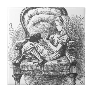 Alice and her Kitten Tile