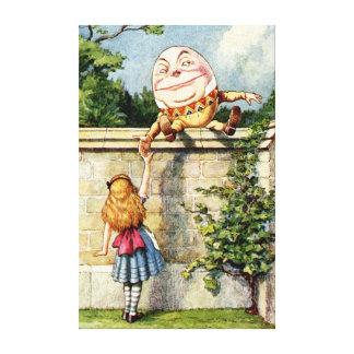 Alice and Humpty Dumpty Canvas Print