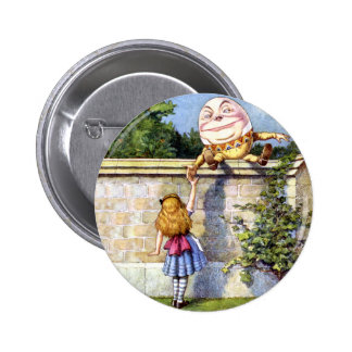 Alice and Humpty Dumpty in Wonderland 6 Cm Round Badge