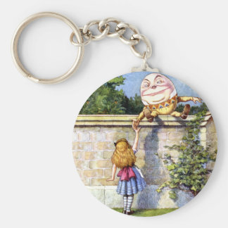 Alice and Humpty Dumpty in Wonderland Basic Round Button Key Ring