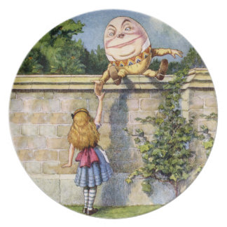 Alice and Humpty Dumpty in Wonderland Plate