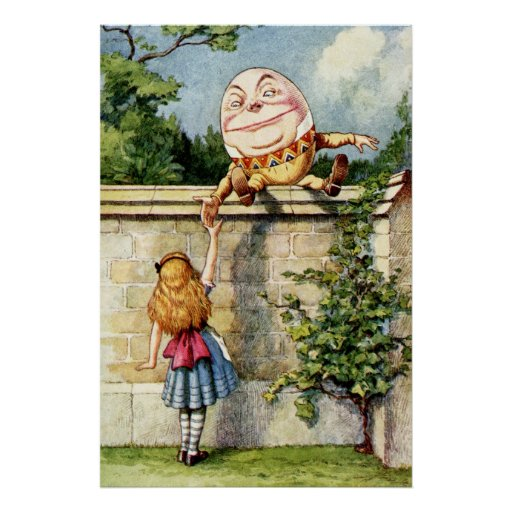 Alice and Humpty Dumpty Poster