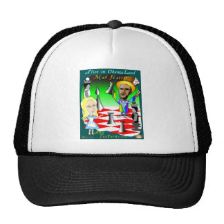 Alice and Obama Chess Cap