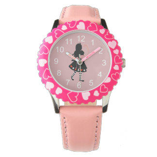 Alice and Pink Flamingo Wristwatches
