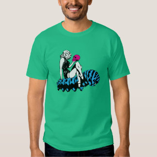 Alice and the blue caterpillar t shirt