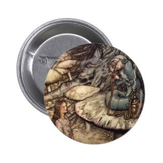 Alice and the Caterpillar 6 Cm Round Badge