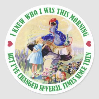 ALICE AND THE CATERPILLAR CLASSIC ROUND STICKER
