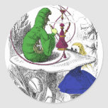 Alice and the Caterpillar Classic Round Sticker