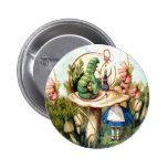 Alice and the Caterpillar in Wonderland 6 Cm Round Badge