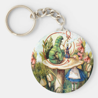Alice and the Caterpillar in Wonderland Key Ring