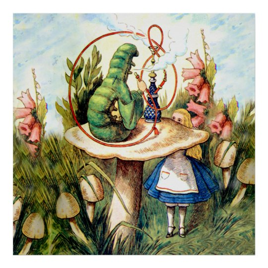 Alice and the Caterpillar in Wonderland Poster