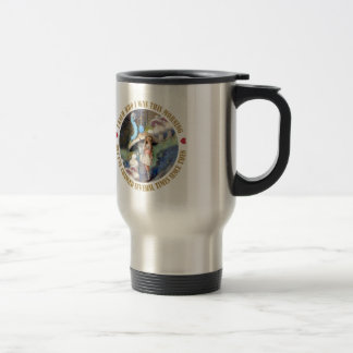 Alice and the Caterpillar in Wonderland Travel Mug