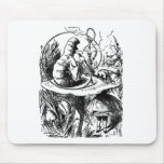 Alice and the Caterpillar Mousepads