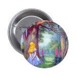 Alice and the Cheshire Cat 6 Cm Round Badge