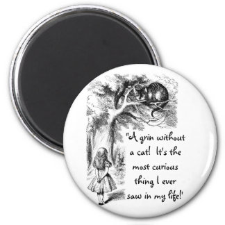 Alice and the Cheshire Cat 6 Cm Round Magnet