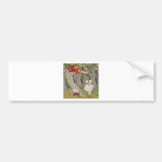 Alice and the Cheshire Cat Bumper Sticker