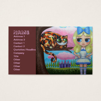 Alice and the Cheshire Cat Business Card