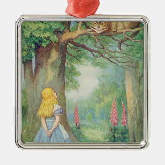 Alice and the Cheshire Cat Christmas Ornament