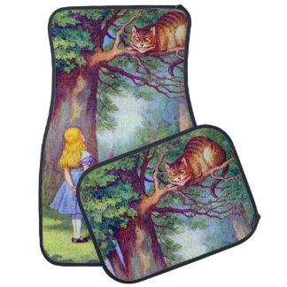 Alice and the Cheshire Cat Floor Mat