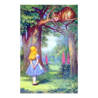 Alice and the Cheshire Cat Full Color Flyer