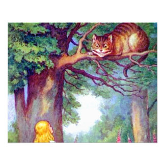 Alice and the Cheshire Cat Full Color 11.5 Cm X 14 Cm Flyer