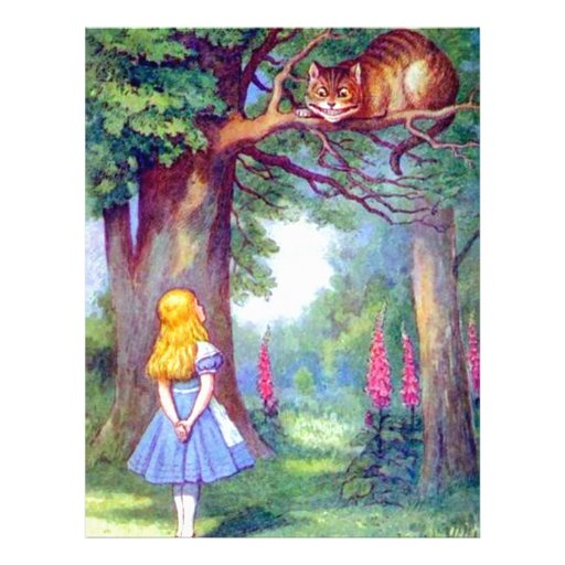 Alice and the Cheshire Cat Full Color Flyers