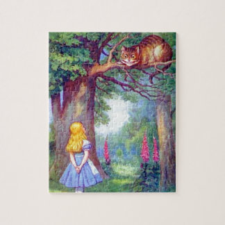 Alice and the Cheshire Cat Full Color Jigsaw Puzzle