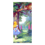 Alice and the Cheshire Cat Full Colour Full Colour Rack Card