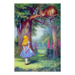 Alice and the Cheshire Cat Full Colour Poster
