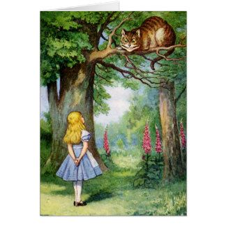ALICE AND THE CHESHIRE CAT GREETING CARDS