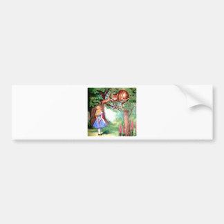 Alice and the Cheshire Cat in Wonderland Bumper Sticker