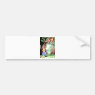 Alice and the Cheshire Cat in Wonderland Bumper Stickers