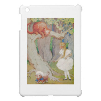 Alice and the Cheshire Cat in Wonderland Cover For The iPad Mini