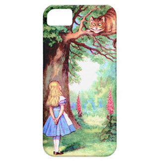 Alice and The Cheshire Cat in Wonderland iPhone 5 Case