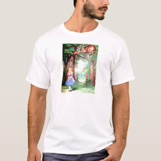 Alice and The Cheshire Cat in Wonderland T-Shirt