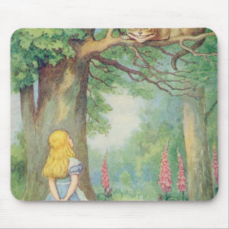 Alice and the Cheshire Cat Mouse Mat