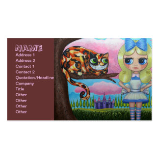 Alice and the Cheshire Cat Pack Of Standard Business Cards