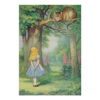 Alice and the Cheshire Cat Posters