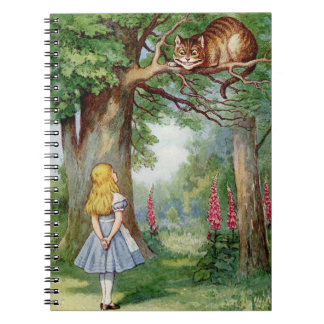 Alice and the Cheshire Cat Spiral Notebooks