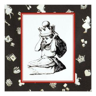 Alice and the Crown 2 13 Cm X 13 Cm Square Invitation Card