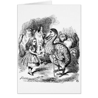 Alice and the Dodo Bird Greeting Card