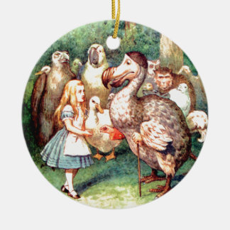 Alice and The Dodo Bird in Wonderland Christmas Ornament