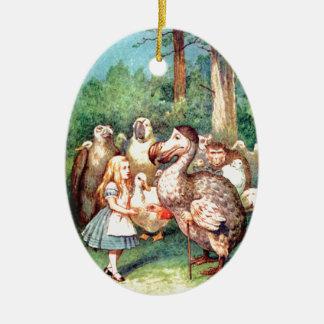 Alice and The Dodo Bird in Wonderland Christmas Ornament