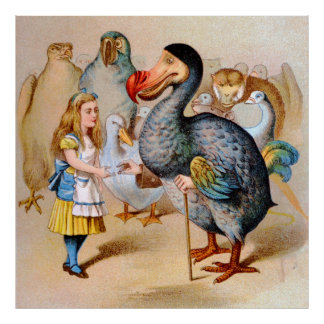 Alice and the Dodo Bird in Wonderland Poster