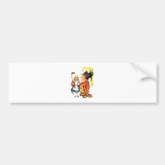 Alice and the Duchess Discuss Flamingo Croquet Bumper Sticker
