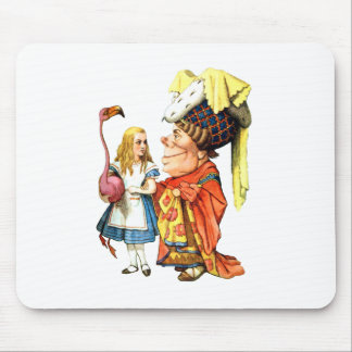 Alice and the Duchess Discuss Flamingo Croquet Mouse Pad