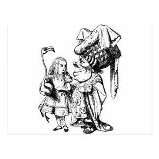 Alice and the Duchess Inked Black Postcard