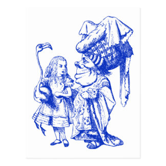 Alice and the Duchess Inked Blue Postcard