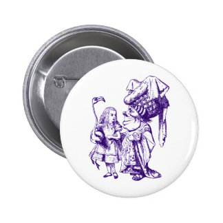 Alice and the Duchess Inked Purple 6 Cm Round Badge
